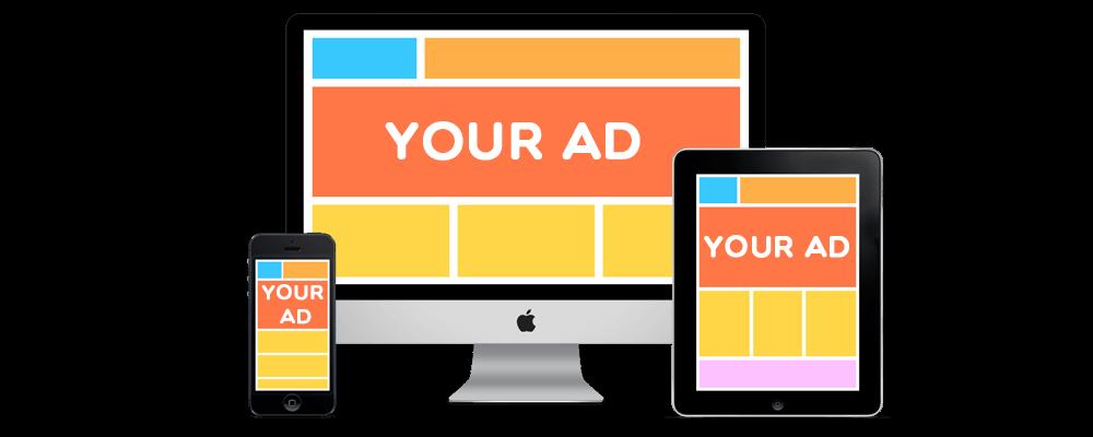 各種裝置呈現的數位廣告類型