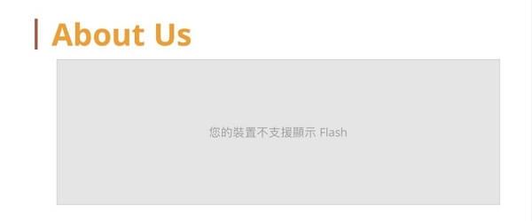 瀏覽器不支持 Flash